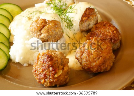 Meatballs with dill sauce
