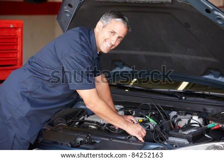 Mechanic at work
