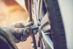 Mechanic man car service repair automobile garage autocar vehicle service mechanical man engineering. Automobile mechanical close up hands fix car repairs. Mechanic technician workshop car care center