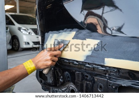 Car body work auto repair paint after the accident  Images