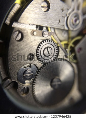 mechanical clock mechanism  #1237946425