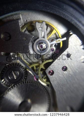 mechanical clock mechanism  #1237946428