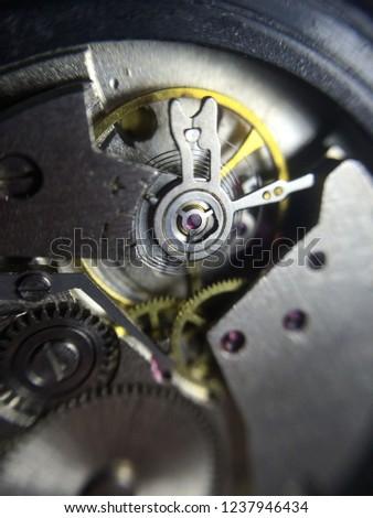 mechanical clock mechanism  #1237946434