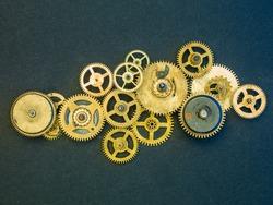 Mechanical design mechanism close up, background