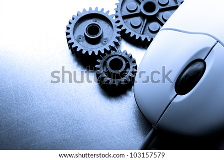 Mechanical ratchets and mouse in blue