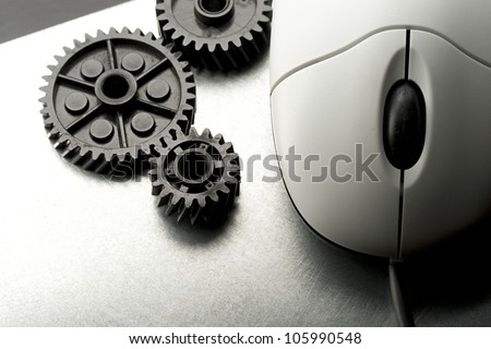 Mechanical ratchets and mouse in grey