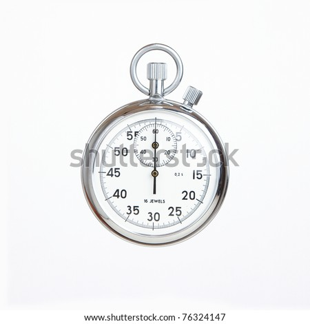 Mechanical russian stopwatch, deadline concept