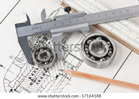 mechanical scheme and calipers with bearing