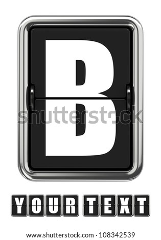 Mechanical Scoreboard Letter Isolated on White