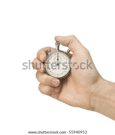 Mechanical Stopwatch in hand