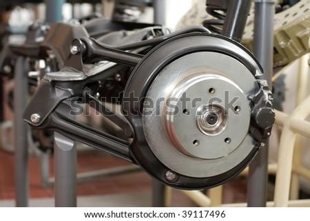 Mechanics of a car suspension