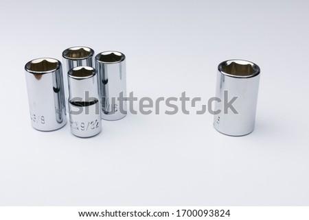Mechanics sockets practicing social distancing