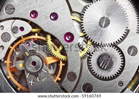 mechanism gear of vintage clock