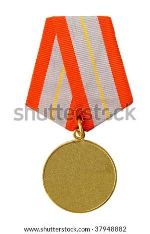 medal on a white background