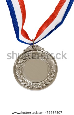 Medal & Ribbon on isolated background - stock photo