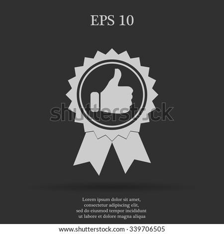 medallion icon. Flat design style