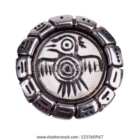 Medallion with a bird from the Mayan calendar