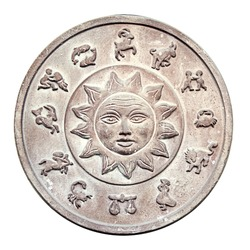Medallion with a zodiac signs