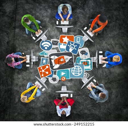 Media Social Media Social Network Internet Technology Online Concept