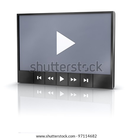 Media video player with reflection