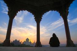 mediation and beautiful tajmahal