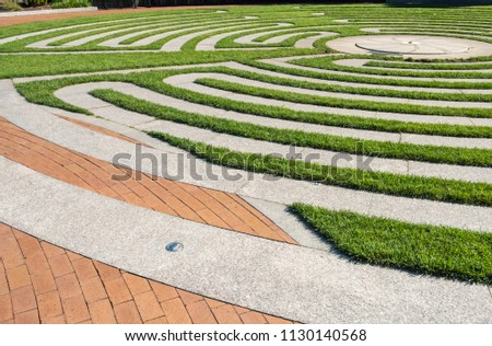 Mediation path, labyrinth. The labyrinth is a walking meditation, a path of prayer and an archetypal blueprint where psyche meets Spirit.