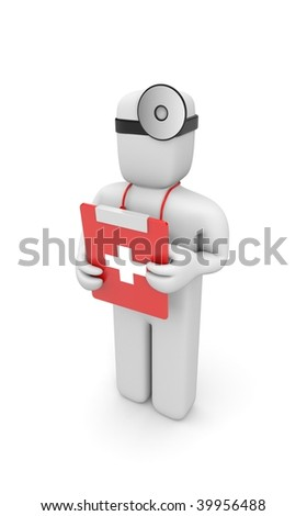 Medic with clipboard