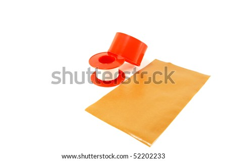 Medical adhesive tape isolated on a white background