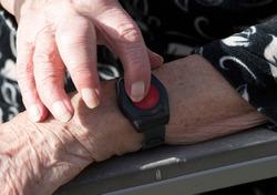 medical alert bracelet with emergency button for elderly people in home nursing