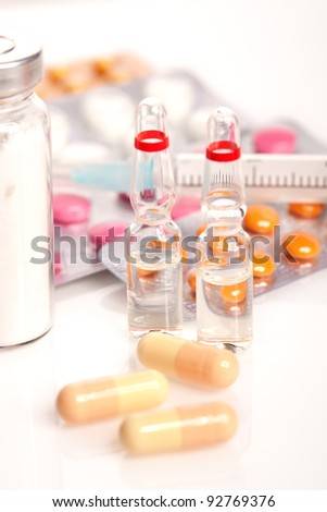 Medical ampoules and pills