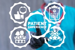 Medical and pharmacy service concept of patient experience. Medicine client satisfaction and feedback.