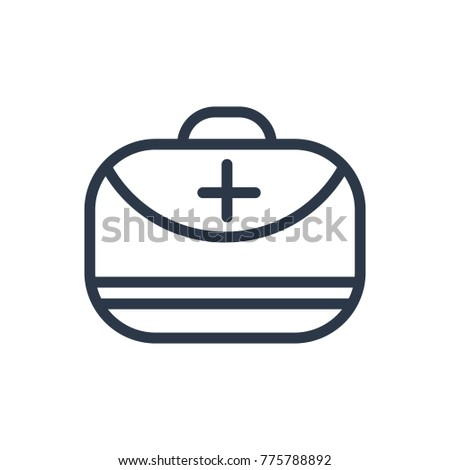 Medical assistance icon. Isolated doctor bag and medical assistance  icon line style. Premium quality doctor bag symbol drawing medical assistance concept for your logo web mobile app UI design.