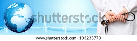 Medical background banner - stock photo