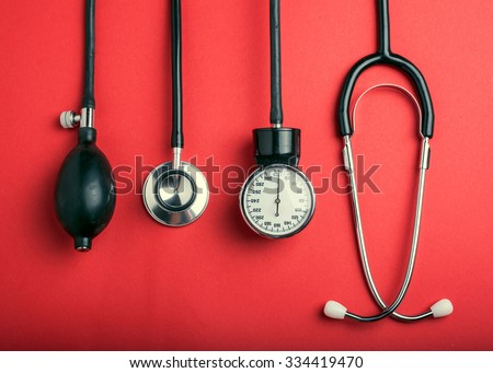 Medical background. Cardiologi medical tools stock photo