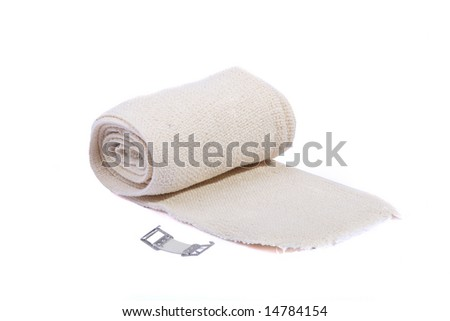 Medical bandage on a white background