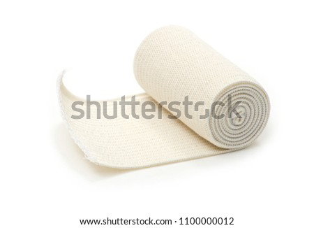 medical bandage roll on white