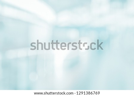 MEDICAL BLURRED BACKGROUND, SPACIOUS HOSPITAL HALL
