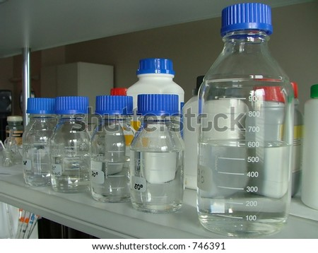 medical bottles in a row