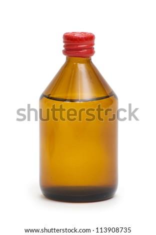 Medical bottles isolated on white