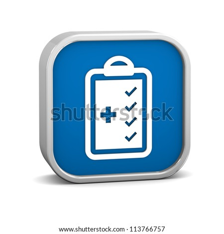 Medical Checklist sign on a white background. Part of a series.