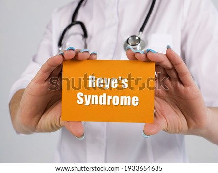 Medical concept about Reye's Syndrome with phrase on the page. Foto stock ©