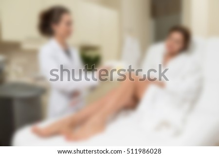 Medical cosmetology clinic theme creative abstract blur background with bokeh effect #511986028
