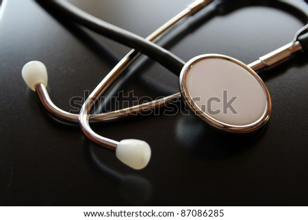 Medical diagnostic tool. Doctors stethoscope. Medical stethoscope.