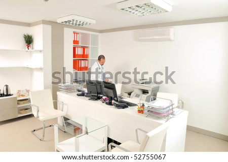 Medical doctor at white office room. A series of MEDICAL IMAGES.