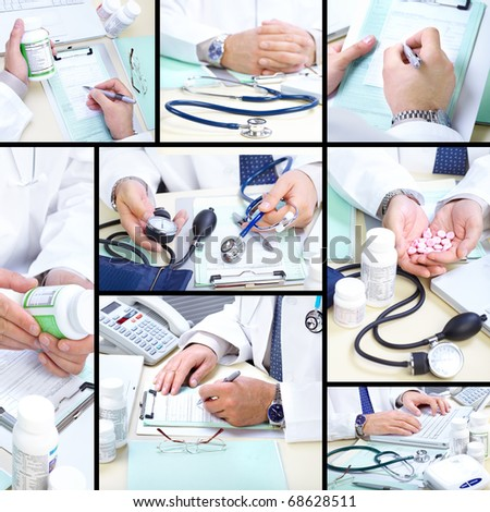 Medical doctor working in the office. Hospital