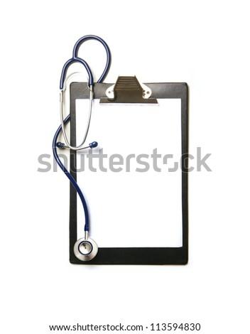 Medical elements isolated on white