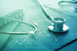 Medical examination and healthcare business graph , health insurance, Health check concept