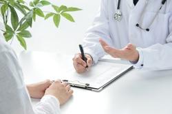 Medical examination between docotor and patient