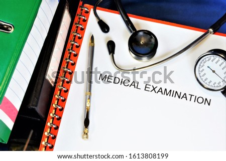 Medical examination - medical diagnostics. The goal is to identify pathological conditions and diseases in the patient.