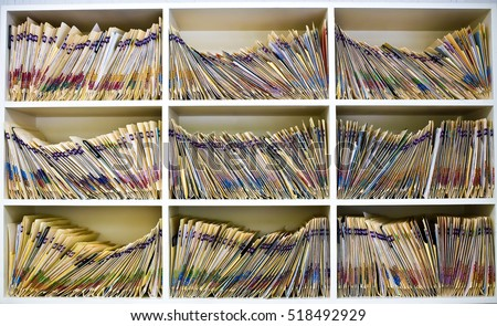 Medical Files In Open Cabinet